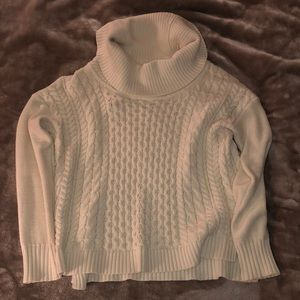 American Eagle White Knit Turtleneck